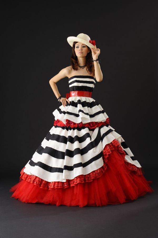2015 black white and red wedding dresses ssj draped bridal for Black red and white wedding dresses