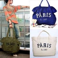 Wholesale Fashion Korea Paris Casual Shopper Large Hobo Canvas Shoulder Bag Handbag Bags R