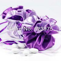 Wholesale 120 Reversible Grape Lilac Stain Wedding Favor Bags