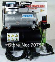 air compressor tank - 220V AC mini piston air compressor pump noiseless silent Portable Airbrush Compressor tatoo make up with air tank Hseng AS186