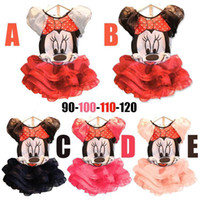 Cheap Minnie Lace Baby Suits Girls Clothes sets Kids Dresses Catoon T-shirts tutu Skirt Outfits T01