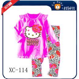 Wholesale Hello Kitty long sleeve pajamas baby sleepwear explosion models kid s pajamas sets XC