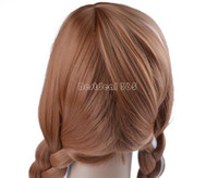 Wholesale Hottest Fashion cm quot Long Gloved synthetic Remy Human Hair Extensions Tails scroll Anime cosplay wig Colors B6 SV005946