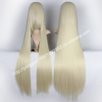 Cheap cosplay wig new COS wig anime game characters beige long hair one meter PL-ZF100 (7)cabelo humano