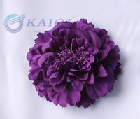 Wholesale purple colour simulation Rose Flowers10 cm Big Flower for chair cover wedding party banquet decoration