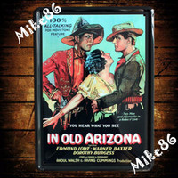 Cheap [ Mike86 ] IN OLD ARIZONA Movie Metal Poster Wall Decor Painting ART Retro House Tin Signs A-570 Mix Items 20*30 CM