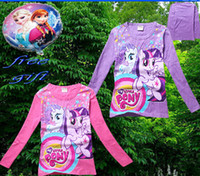Wholesale 9 off in stock Free Balloon my little pony girls long sleeved T shirt Shirt jumper kids clothings DROP SHIPPING HOT SALE on sale TM