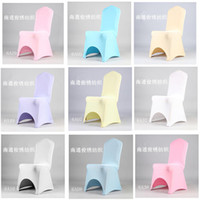 Wholesale wedding chair coverElastic stretch chair cover banquet chair cover wedding chair cover piece stretch elastic arch coverings table coverings