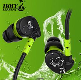 Wholesale HOLY SERPENT V7 Mobile phone hifi headphones ear wire sports running mp3 waterproof earphones
