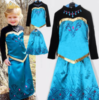 For 110- 150cm 2014 Autumn Frozen Long Sleeve Dress Children ...