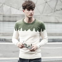 Wholesale 2014 Fall Men s Sweaters Crew Neck long sleeve knitted Clothing for mens High quality Slim Hedging Sweaters colors choose Hot sale
