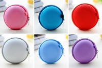 Cheap Colorful Earbud Carrying Storage Bag Pouch Hard Case for Earphone Headphone USB cable Coin etc. Free shipping