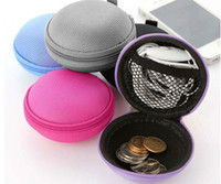 Cheap Colorful Earbud Carrying Storage Bag Pouch Hard Case for Earphone Headphone USB cable Coin etc.