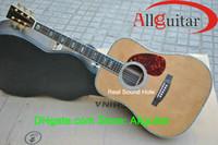 Wholesale 100 OEM Natural acoustic guitar Real Abalone inlay Bone Bridge pins Ebony Fretboard Bridge China Guitar Free Guitar Tuner