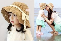 for summer children's kids girl's crochet foldable lace band sun hats fashion sun caps beach hats