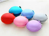 Cheap New arrival Colorful Earbud Carrying Storage Bag Pouch Hard Case for Earphone Headphone USB cable Coin etc.