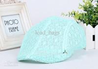 Wholesale Cheap Berets Caps Korea Lace Style colors Mix Order E12