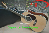 Wholesale OEM Acoustic Guitar Natural Dreadnought Solid Spruce Top Acoustic guitar Incomparable China guitar Free Guitar Tuner strings