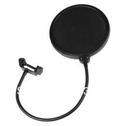 Wholesale 100pcs Studio Microphone Mic Pop Screen Wind Windscreen Filter Mask Shield Flexible Filters Filter Black Audio FREE FEDEX DHL Shipping