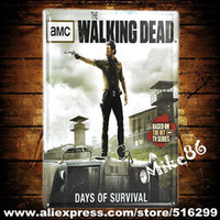 amc walking dead - Mike86 AMC THE WALKING DEAD Comic Metal plaque Painting Wall Decor Bar House Hotel Tin Sign CM Mix Items A