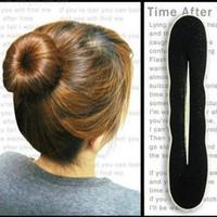 Wholesale Hot products Sponge Bun Clip Maker Former Foam Twist Hair Salon Tool Magic Dish hair stick