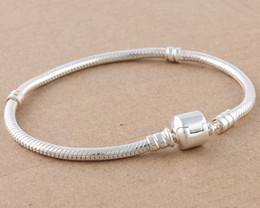Bracelets Links 3MM 16cm-23cm Snake Chains 925 Sterling Silver Fit Murano Beads European Chain Jewelry