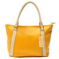 Cheap Wholesale-free shipping 2013 new female handbag 9865 yellow fashion hand bag college classic ladies designer totes women cheap purse