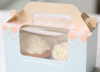 bakery cases - high quality Cake Bakery Boxes hold cupcakes Mousse Cookie Muffin Packaging Cases muffin bags cookie holder