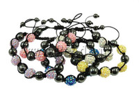 Wholesale MM Resin Crystal Beads Multicolor Bracelets Bling Hematite Beads Bracelet Jewelry