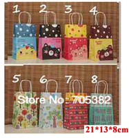 Cheap NEW cartoon kraft paper gift bag, Festival gift bags, Paper bag with handles, wholesale price (SS-6424)