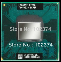 Wholesale T7200 CPU The new Intel Core Duo T7200 G M PGA original official version of the notebook CPU platform upgrade