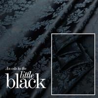 brocade fabric - The theme of the whole black silk brocade silk yarn dyed jacquard silk satin fabric cloth