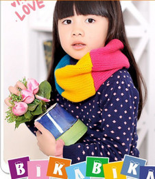 Wholesale 5 SET baby Kids children Candy Winter Smile Knitting Woolen Baby Kids Infinity Scarf Circle Neck Collar Loop Shawl
