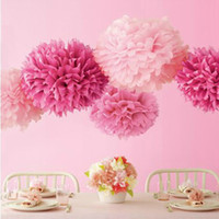 Wholesale cm paper Tissue pom poms paper Flower ball For Party holiday Wedding Valentine s day
