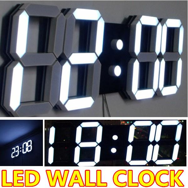 Large Modern Digital Led Wall Clock Safe Watches Home Decoration
