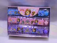 Wholesale Princess Sophia Children Students Cartoon Straight Ruler Kid Ice Snow Queen Folding ruler Stationery ruler FZ127