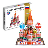 Wholesale Toy D puzzle The world famous building the D model of meet EN71 certification