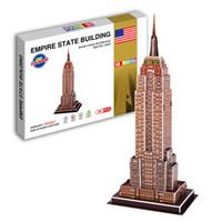 Wholesale toys D Puzzle Paper Puzzles The world famous building the D model