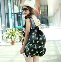 Wholesale mochila pu Pineapple backpack bags student school bags fashion casual Men Women s travel bags