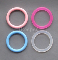 Wholesale 24Pcs Silicone Mam Adapter O Ring Pacifier Dummy Ring Color Inner Diameter mm