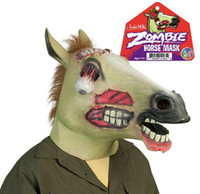 zombie - Zombie Horse Mask Halloween Horror Animal Mask Party Masks Cosplay Halloween Mask Theater Prop Latex Rubber