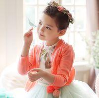 knit wear - Autumn spring wear Children s sweater girls knitting coat croch jacket for baby girls kids cardigan child outwear