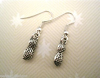 antique tattoos - Earring Antique Silver CUTE PEANUT NUT SP Earrings ROCKABILLY TATTOO pair ab540