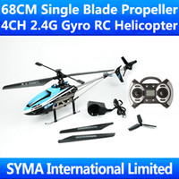 Cheap Retail Box 68CM Large Big 4CH 2.4GHz Single Blade Screw GT500 Gyro Support Camera Bubble Projector Remote Control RC Helicopter