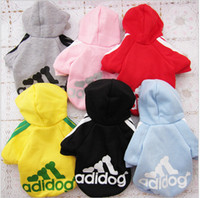 Wholesale Hight Quality Pet Puppy winter Dog Clothes Coat Hoodie Sweater Costumes sport dog clothing Size S M L XL XXL