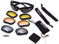 Tactical C5 Polycarbonate Desert Storm sports sunglasse 4 le...