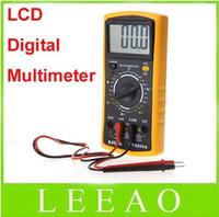 Wholesale 20pcs Digital Multimeter handheld tester electric amps voltage meter AC DC DT9205A Yellow Color