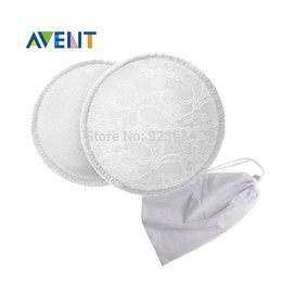 Wholesale 6pcs Layers Cotton Maternity Washable Reusable Avent Nursing Pads With A Laundry Bag Soft Breathable Breast Pads RD