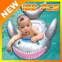 Cheap free shipping 100pcs Baby Kids Water Pool Swim Ring Seat Float Boat Swimming Aid Tube With Wheel Toy