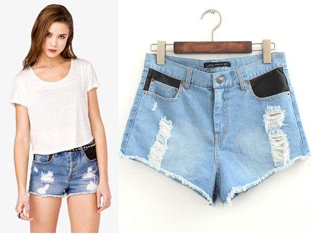 2017 Woman Denim Shorts Ripped Jeans Shorts Plus Size S Xl Mini ...